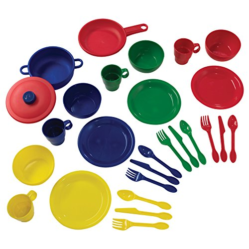 KidKraft 27Piece Cookware Playset - Primary, 6.5' x 6.5' x 6.5', Multicolor