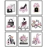 9 Stücke Moderne Frauen Wandkunst Rosa Wand poster Parfüm