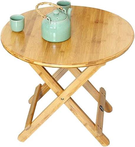 QZ HOME Table Pliante en Plein Air Simple Ménage Table à Manger Apprendre Simple Pratique Table Ronde Capacité De Charge De (Taille   60  60  50CM)