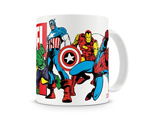 Marvel Offizielles Lizenzprodukt Heroes Kaffeetasse, Kaffeebecher
