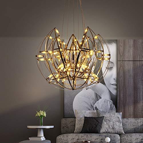 CHENJUNAMZ Lámpara nórdica de Loto Estrellado Lámpara de Comedor posmoderna Lámpara de Pasillo de Escalera de habitación Simple Tejido a Mano