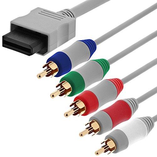 Fosmon Câble Audio Vidéo De 180cm Pour La Connexion De Nintendo Wii, Wii U Et Périphériques HDTV, Connecteurs Plaqués Or