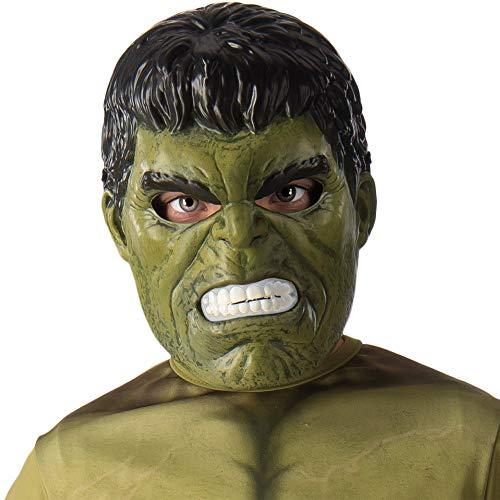 Avengers - Máscara de Hulk para niño, Marvel - Talla única infantil (Rubie'S 39215)