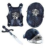 Ritterkostüm für kleine Ritter ab 3 Jahren - Helm, Schild, Schwert und verstellbare Rüstung