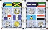 Prophila Collection Naciones Unidas - Nuevo York 1177-1184 Sheetlet (Completa.edición.) 2010 Monedas (Sellos para los coleccionistas) Monedas y Billetes en Sello