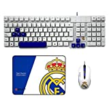 Mars Gaming - Pack De Teclado, Ratón Y Alfombrilla Gaming Del Real Madrid...