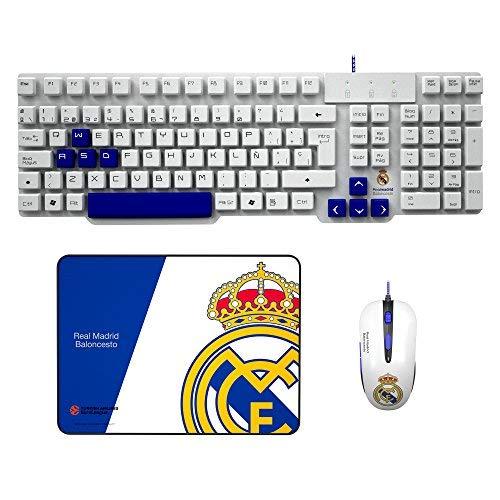 Mars Gaming BLRM2, Pack Gaming Oficial Real Madrid Teclado, Ratón y Alfombrilla, PS4 /XBOX/PC