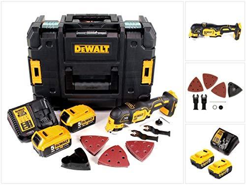 DeWalt DCS 355 P2 Akku Multi Tool 18V Brushless + 2x Akku 5,0Ah + Ladegerät + 29tlg. Zubehör + TSTAK