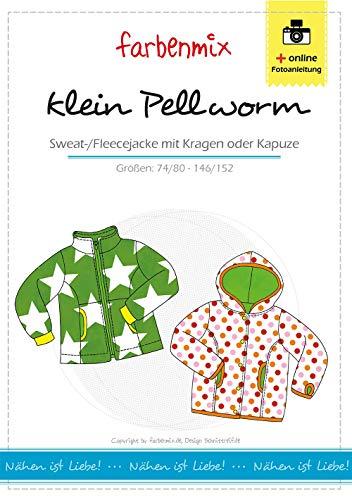 Farbenmix klein Pellworm Schnittmuster (Papierschnittmuster für die Größen 86/92-146/152), Fleecejacke