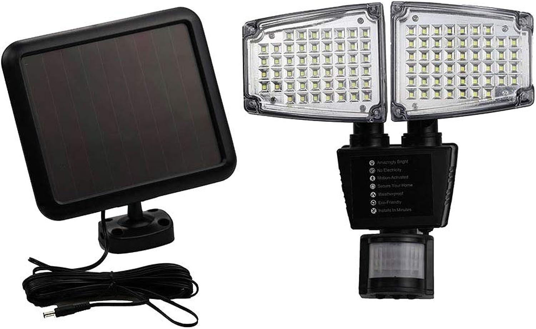 OSALADI Solar Licht Scheinwerfer 100Led Bewegungsmelder LED Solar Sicherheitsleuchten Auenbeleuchtung Garten Licht für Yard Street Gate Patio (Schwarz)