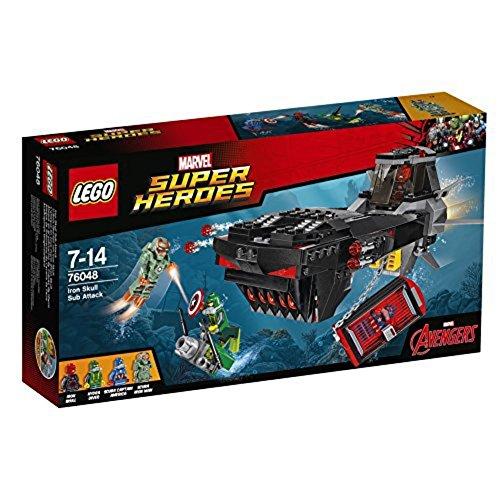 LEGO Super Heroes - Playset Ataque en el Submarino de Cráneo de Hierro, Multicolor (76048)