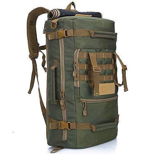 Impermeable al aire libre 50L Bag Army Tactical Military Backpack Camo Trekking Bolsas de viaje para hombres Mujeres Caminata Camping Caza Mochila