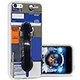 iPhone 5c Case Cool Cute,ChiChiC 360 Full Protective Anti Scratch Slim Flexible Soft TPU Gel Rubber Clear Cases Cover with Design for iPhone 5c,Vintage Black Blue Public payphone Design Funny