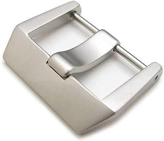 Strapcode 24mm o 26mm Acciaio inossidabile sabbiato 316L Vite tipo 6mm Tongue Buckle per Bell & Ross BR01 BR03 cinturino