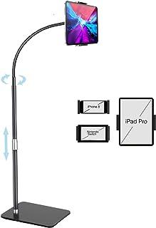 """Gooseneck Tablet Floor Stand, iHOMX 360 Degree Rotating Long Arm & Vertical Adjustable Tablet Stand Holder for 4""""-12.9"""" De..."""