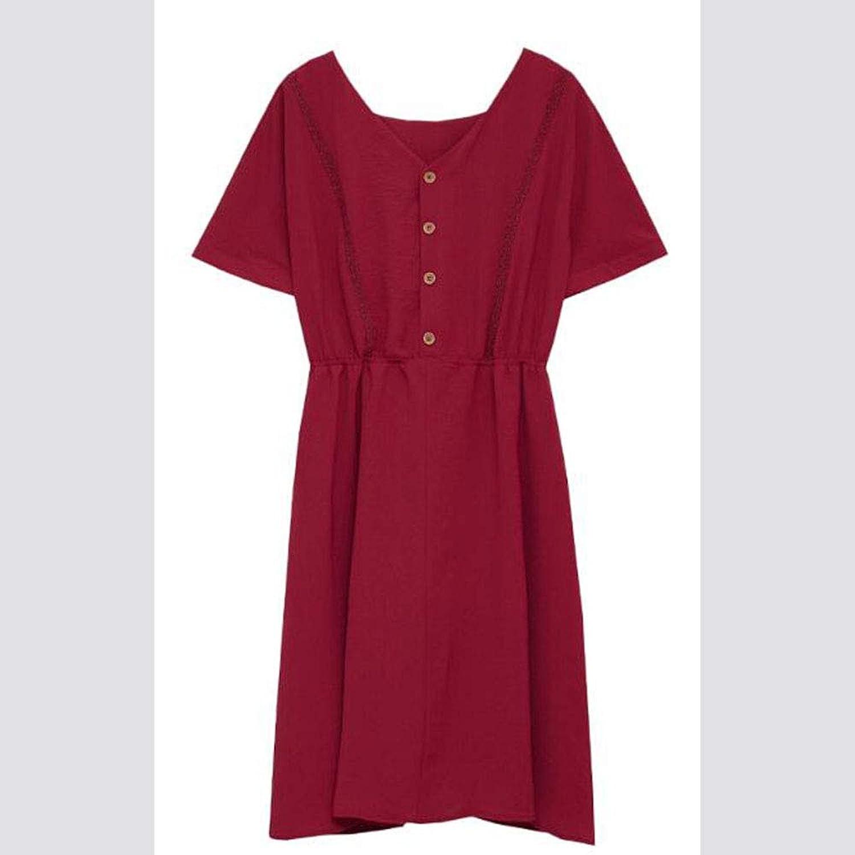 New Women's Temperament Square Collar red Fairy Skirt Dress