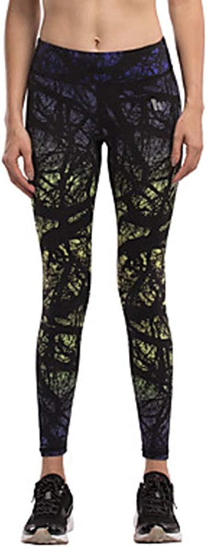 AILIUJUNBING Women's 1pc Running TightsBlack, Yellow Sports Printing Tights Leggings Yoga, Fitness, Gym Activewear Quick Dry, Compression, Butt Lift High Elasticity