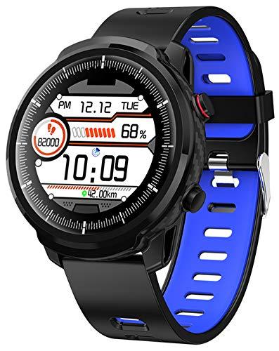 YGMDSL Smart Watch Fitness Tracker SmartWatch Pulsera Actividad Fitness Tracker SmartWatch Bandas Monitor de frecuencia cardíaca 1.3 Pulgadas Pantalla táctil Completa IP67 Impermeable (Blue)