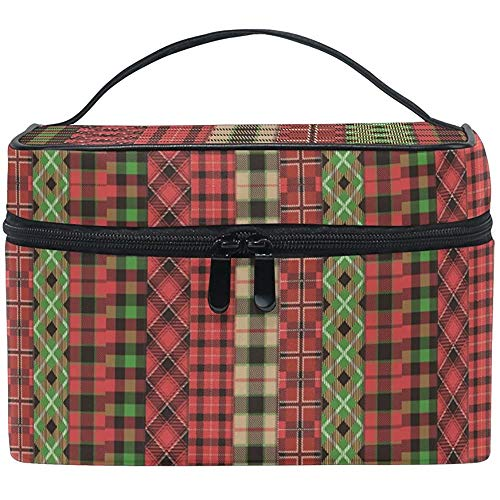 Trousse de Maquillage Fashion Grid Travel Cosmetic Bags Organizer Train Case Toiletry Make Up Pouch