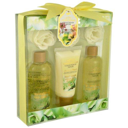 Gloss ! Make up & accessoires Sparkling Bliss Coffret de Bain Fleur de Coton 8 Pièces, Coffret Cadeau-Coffret de bain