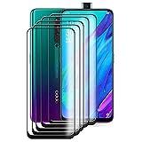 HYMY 5 Pack Cristal Vidrio Templado para OPPO Reno 2Z - Transparente Protector de Pantalla Película Protectora Protector Anti-Scratch Anti-Sucio HD Screen Protection