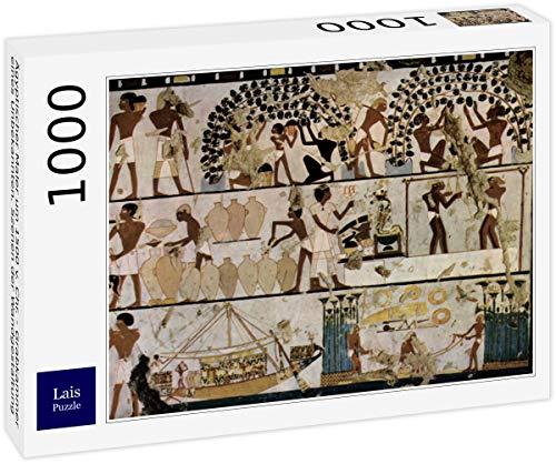 Lais Puzzle Pittore Egiziano del 1500 a.C. Circa - Camera di sepoltura di Un Uomo sconosciuto, Scene di Decorazione murale 1000 Pezzi