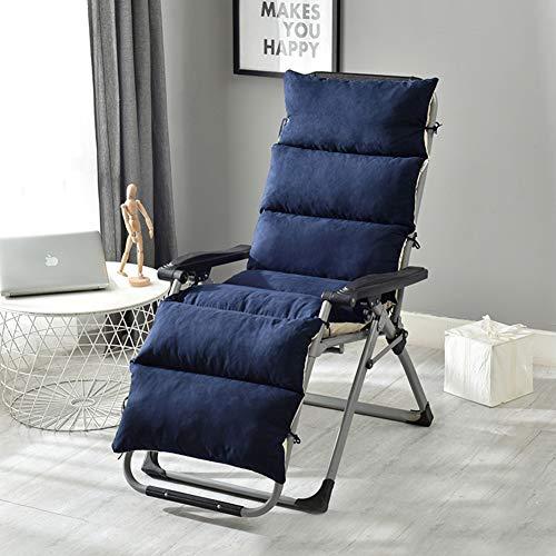 YINGLUO Cojín grueso para banco largo, extraíble y lavable, cojín de asiento suave para interiores, colchoneta de jardín con lazos de fijación, colchón antideslizante para silla al aire libre