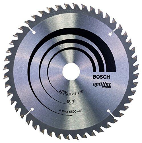 Bosch Professional Kreissägeblatt Optiline Wood (für Holz, 235 x 30 x 2,8 mm, 48 Zähne, Zubehör Kreissäge)