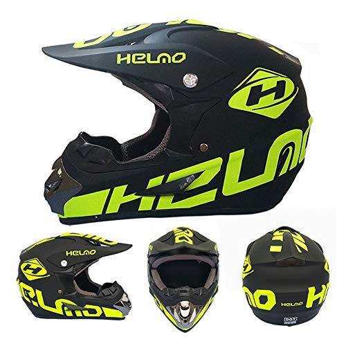 CANALO Casco Integrale di Sicurezza Casco Classico MTB DH Casco da Corsa Motocross Casco da Bici da Discesa Capacetes,K,M