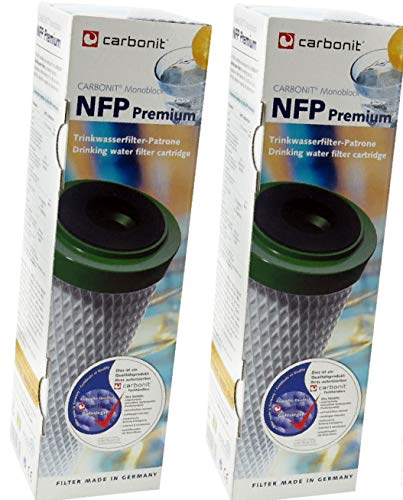 Carbonit 2 x Monoblock Filterpatrone NFP für SANUNO, Vario-HP und Duo-HP + Entkalkertabs