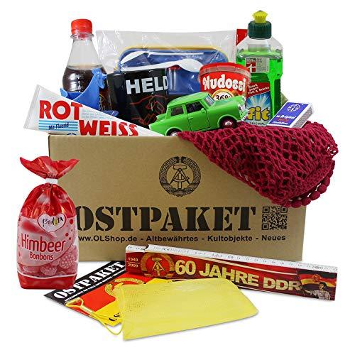 Ostpaket Kultprodukte groß mit 13 typischen Produkten der DDR Geschenkidee Intershop Ostprodukte DDR Kultprodukte