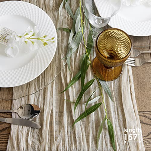 Your Magic Moment Gauze Table Runner Bulk Ivory Nude Cheesecloth Table Cloth - Wedding Table Runner - Rustic Table Runner 160 in - Boho Chick Rustic Wedding Table Cloth Decor - Cream Table Runner