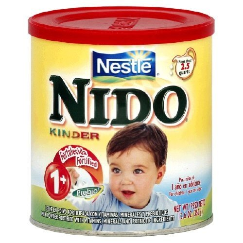 Nestle Nido Milk Powder, Age 1+ with Prebiotic Ingredients, 12.6-Ounce Containers