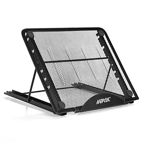 AGPTEK Adjustable Light Box Pad Stand - Ventilated Foldable Laptop Stand - 4 Angle Points Skidding Prevented Tracing Holder - Cooling Stand for Laptop and Notebook Tablet
