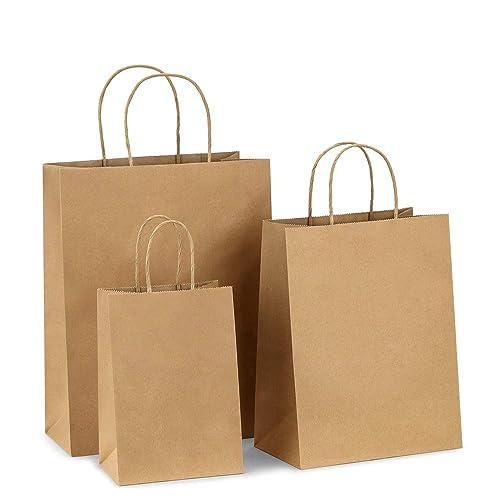 768b076b38 BagDream Kraft Paper Bags 5x3x8  8x4.75x10  10x5x13 25 Pcs Each