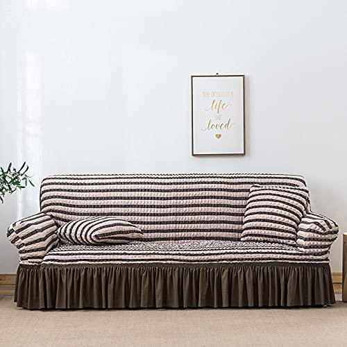 MMHJS La Funda De Sofá De La Serie Seersucker Tiene Un Color Estable, Protege El Sofá De La Formación De Bolitas, Una Funda De Sofá Cómoda Y Transpirable