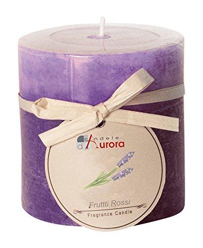 Candele D'Aurora Iris Cero Profumato A 2 Strati, Cera, Viola, 6.8x6.8x7 cm