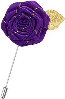Men/'s Rose Fleur Broche lapel costume pins clip broches col Costume Fête De Mariage