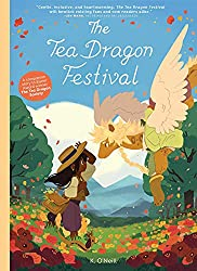 book review, book reviews, childrens book, dragons, graphic novel, illustrated, illustrations, kate o neill, middlegrade, tea dragon, the tea dragon festival,