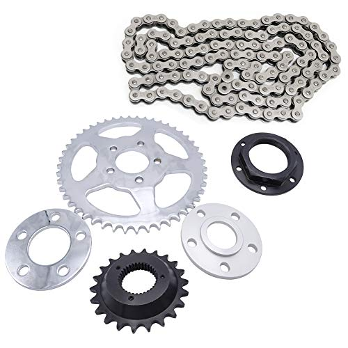 Belt to Chain Drive Transmission Sprocket Conversion Kit Compatible with 2000-2019 Harley Sportster XL