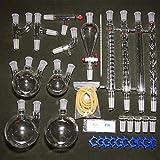 Laboratorio de química orgánica Conjunto de instrumentos de vidrio Ciencia industrial Filtración...