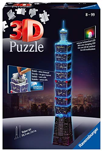 Ravensburger 3D Puzzle 11149 - Taipei 101 bei Nacht - 234 Teile