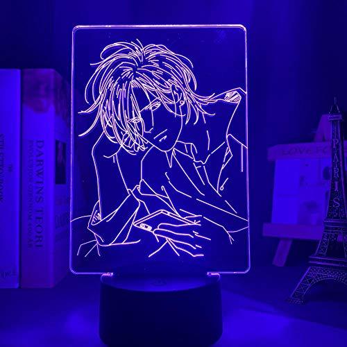 Luz nocturna 3D para niños, anime, banana, pez, cenizas, luz para dormitorio, decoración, LED, luz nocturna, cumpleaños, banana, lámpara de peces HYKK