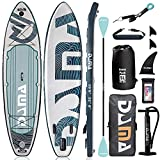 """DAMA 10'6''x32""""x6'' SUP Inflatable Stand Up Paddle Board, Leash, Camera Seat, Pump, Fishing, Surfing, Yoga Touring Board, Fin & Backpack Travel Bag, Floating Paddle, All Round Board Surfing"""