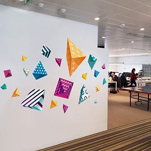 Kleurrijke patroon veelhoekige muurstickers voor feestdecoratie bedrijf woonkamer bank achtergrond klas kunst huisdecoratie