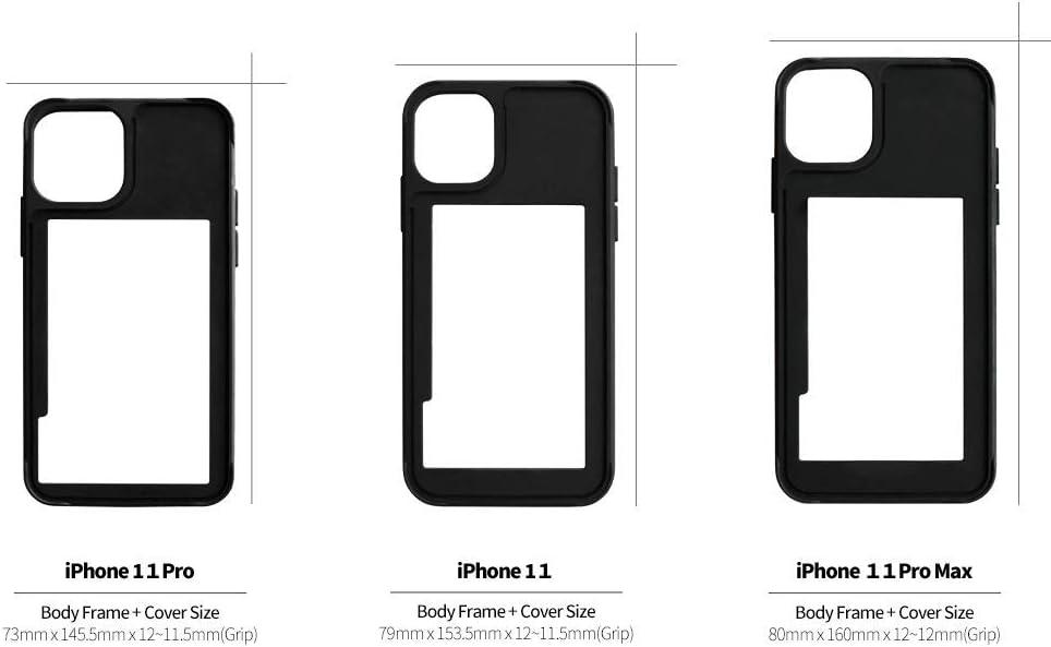 DPARKS Apple iPhone 11 Mobile Phone Case TikTok White Protective TPU Bumper Frame Military-Grade Shockproof Stylish Slim & Hard Design Cool Cute Pretty Minimal Artistic Premium
