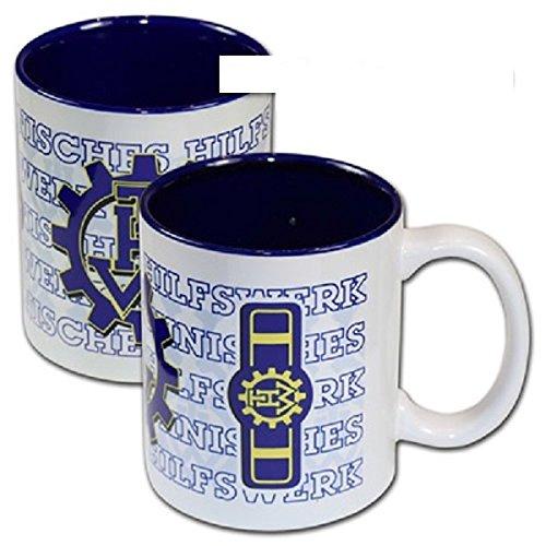 Schwemmlein THW Kaffeetasse Tasse mit Dienststellungskennzeichen - Ortsbeauftragter - 95x110mm