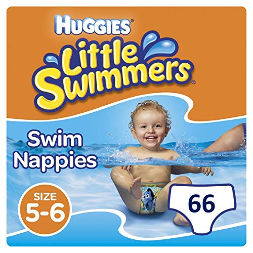 Huggies Little Swimmers Einweg-Schwimmwindeln, Größe 5–6 – 33 Hose Total