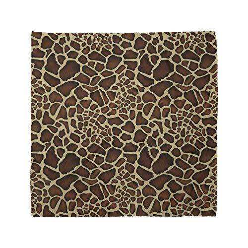 Ambesonne Unisex Bandana, Zambia Giraffe Skin Pattern, Yellow Redwood