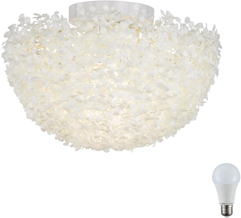 Decken Leuchte wei Gste Hotel Zimmer Strahler halbrund Blüten im Set inklusive LED Leuchtmittel